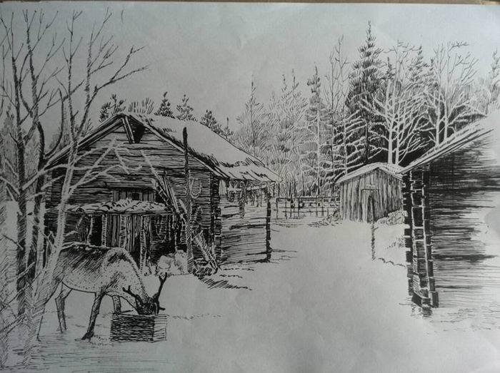 13园林举办钢笔画大赛
